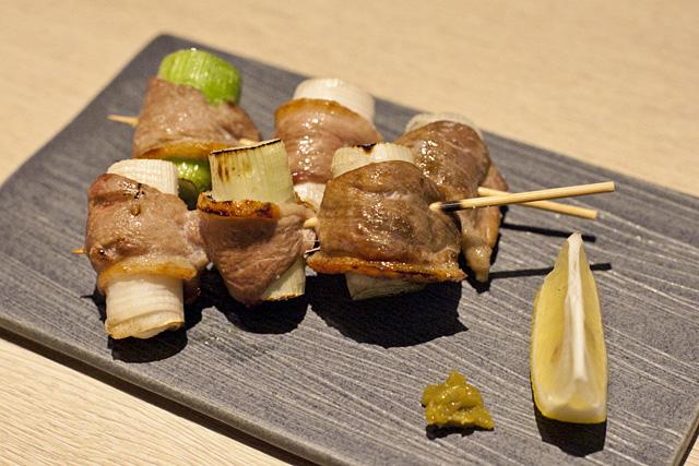 奥京 鴨と葱の串焼き