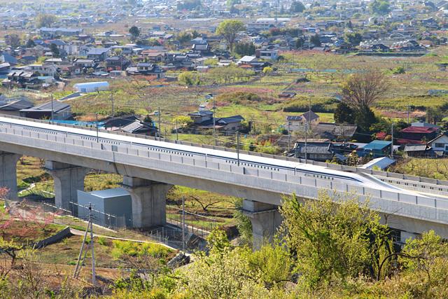 御坂町花鳥山リニア実験線